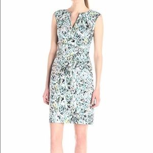 NWOT Adrianna Papell Watercolor Sheath Dress